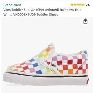 Vans Slip-On (Checkerboard) Rainbow/True White-10